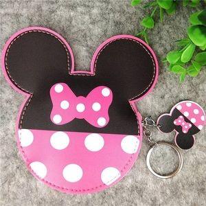 Minnie Mouse mini pouch, keychain